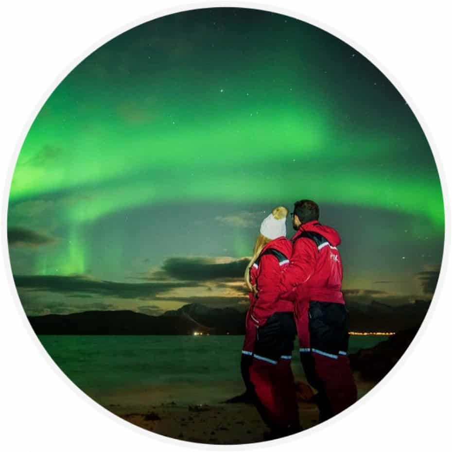 aurora boreal em Tromso Noruega