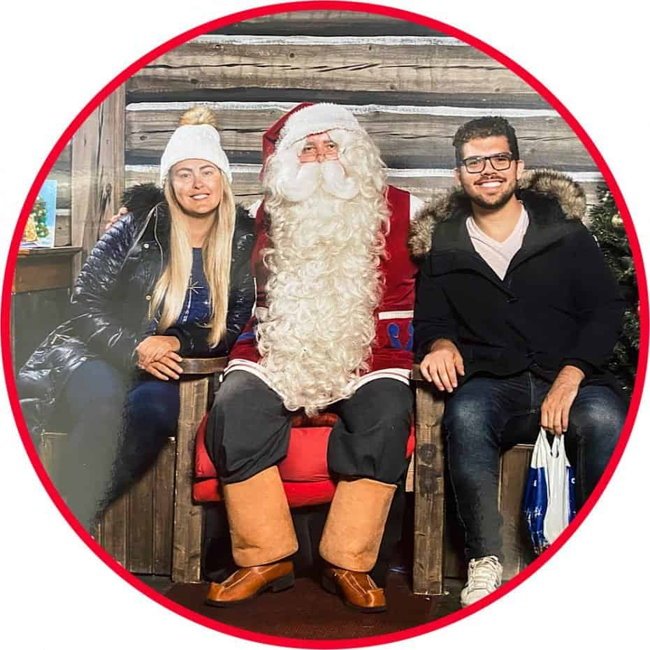 Foto com Papai Noel na Finlândia