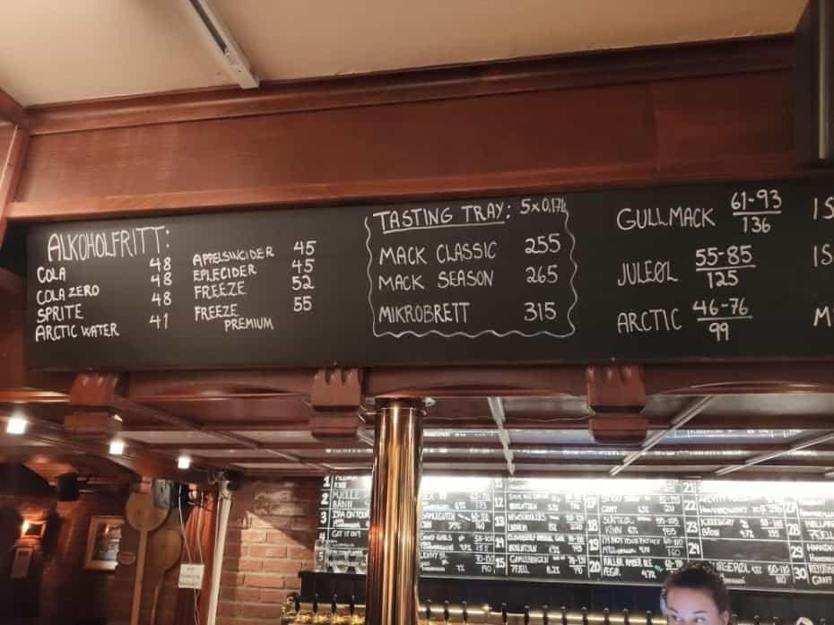 preço da cerveja em Tromso Noruega
