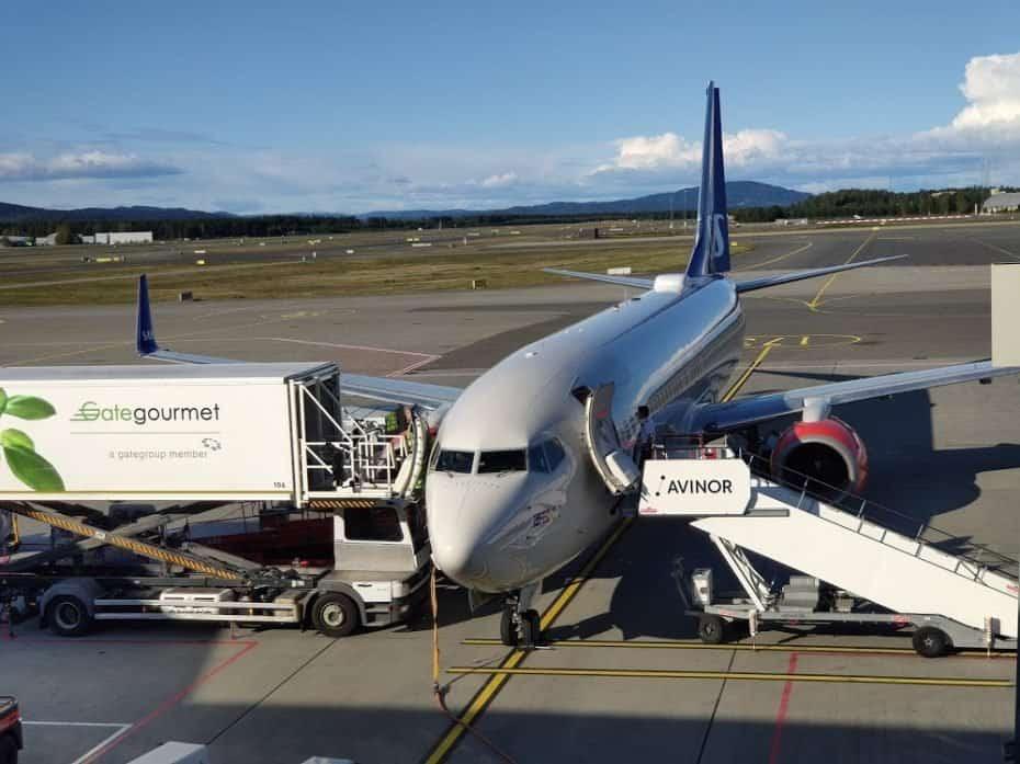 viajando para Tromso de avião