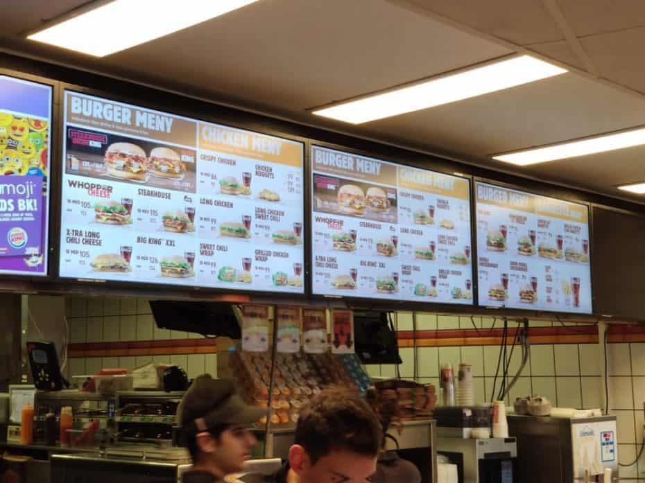 Fast food Burguer King em Tromso Noruega
