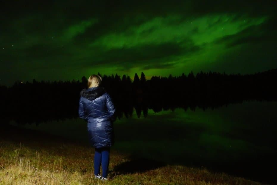 Aurora boreal em Rovaniemi