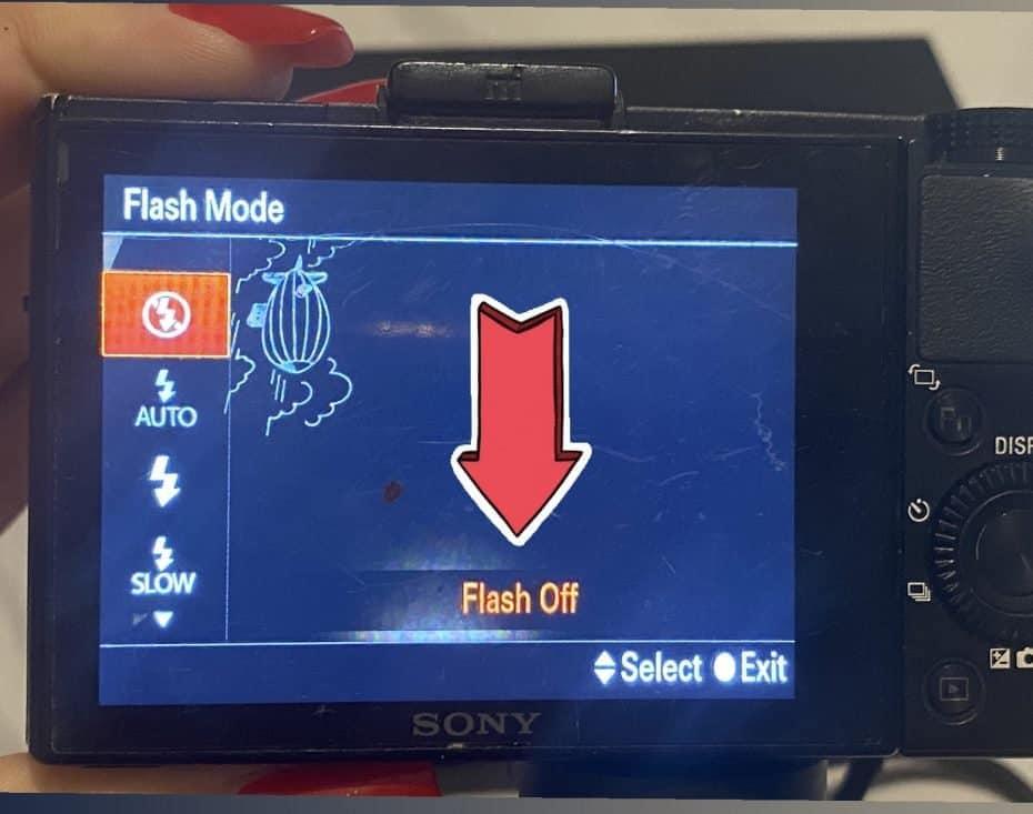 Configurando o flash da câmera - foto aurora boreal