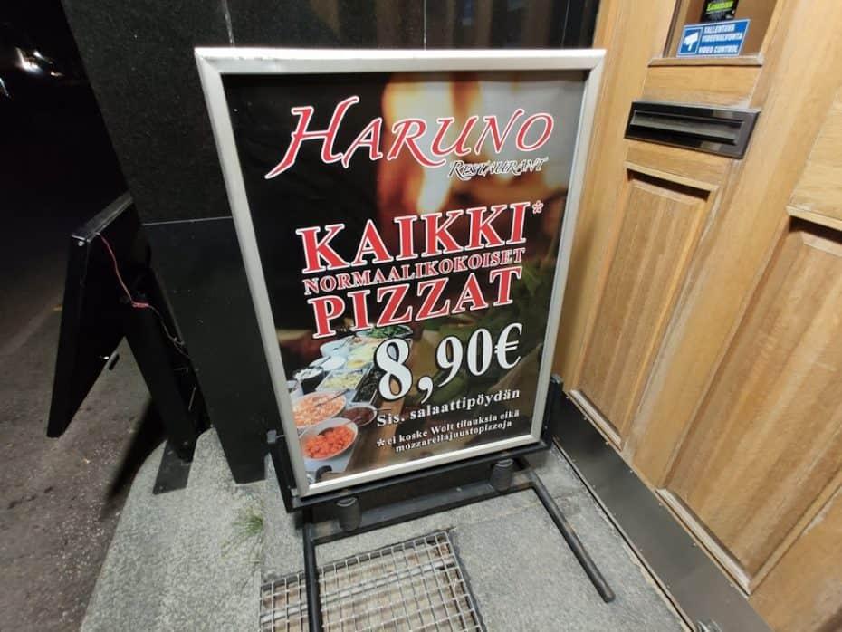 Preço da comida na Finlândia